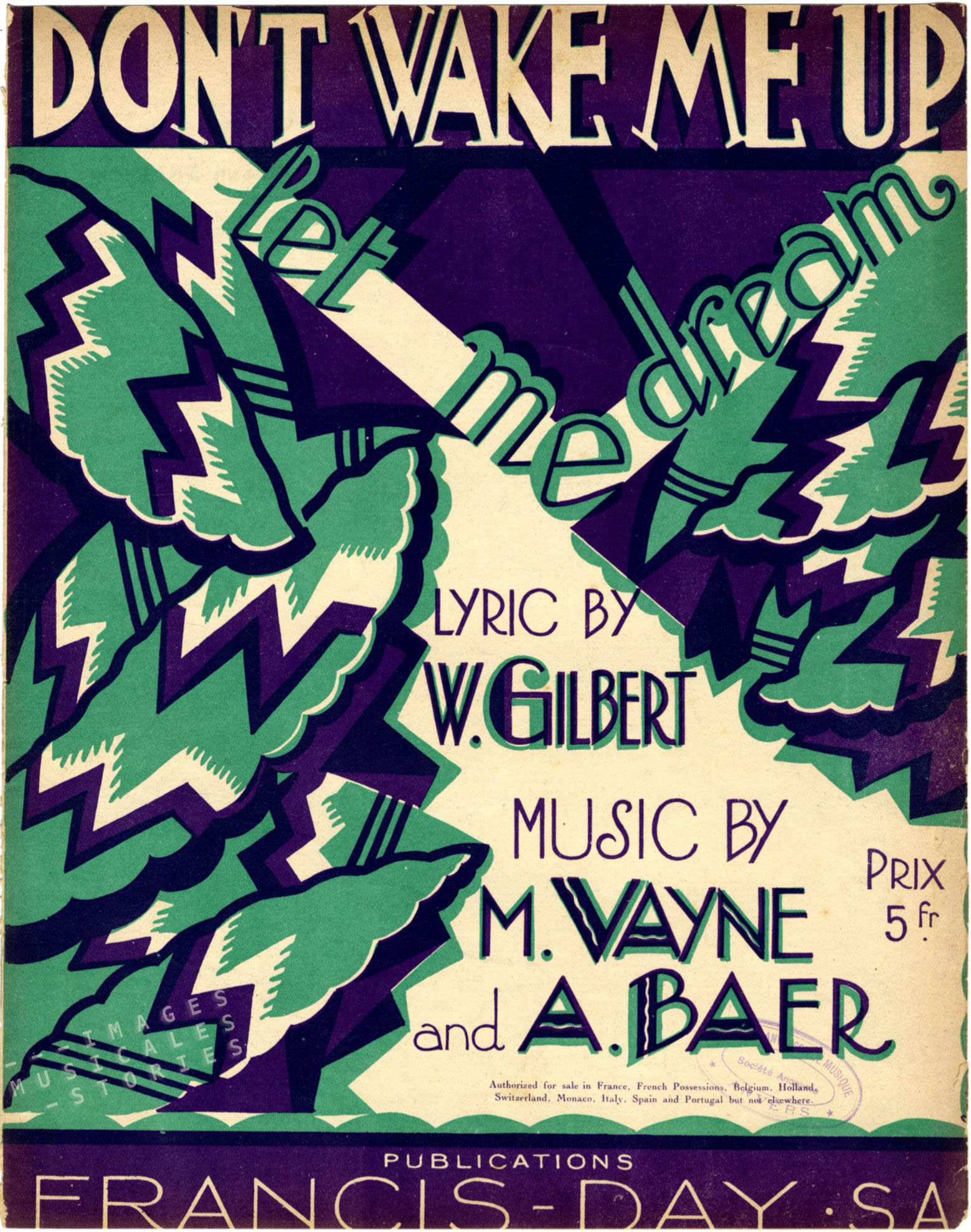 'Don't Wake Me Up', sheet music illustrated by Fabien Loris