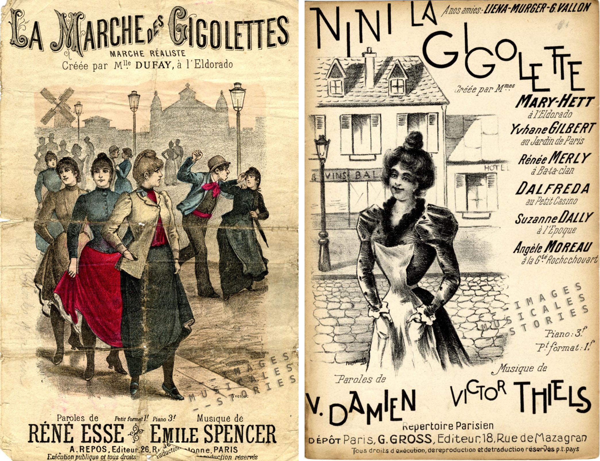 Left: 'La Marche des Gigolettes'