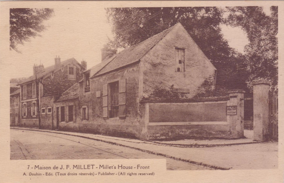 Post card of the Millet house, as published by Douhin (ca 1930). (source: Pichonnais)