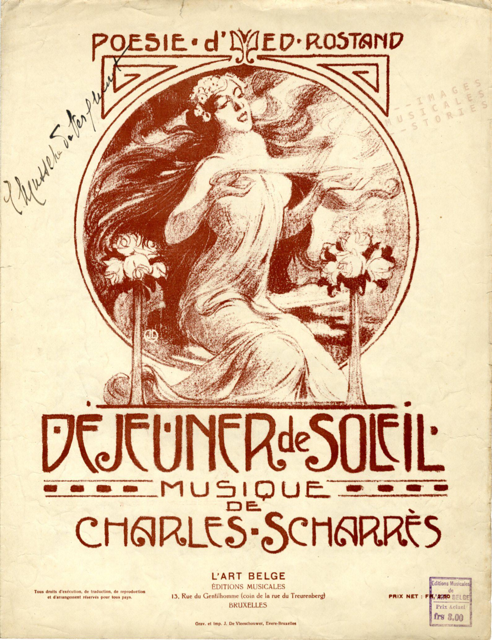 Illustration Jean Droit pour partition musicale de Charles Scharrès (1915)