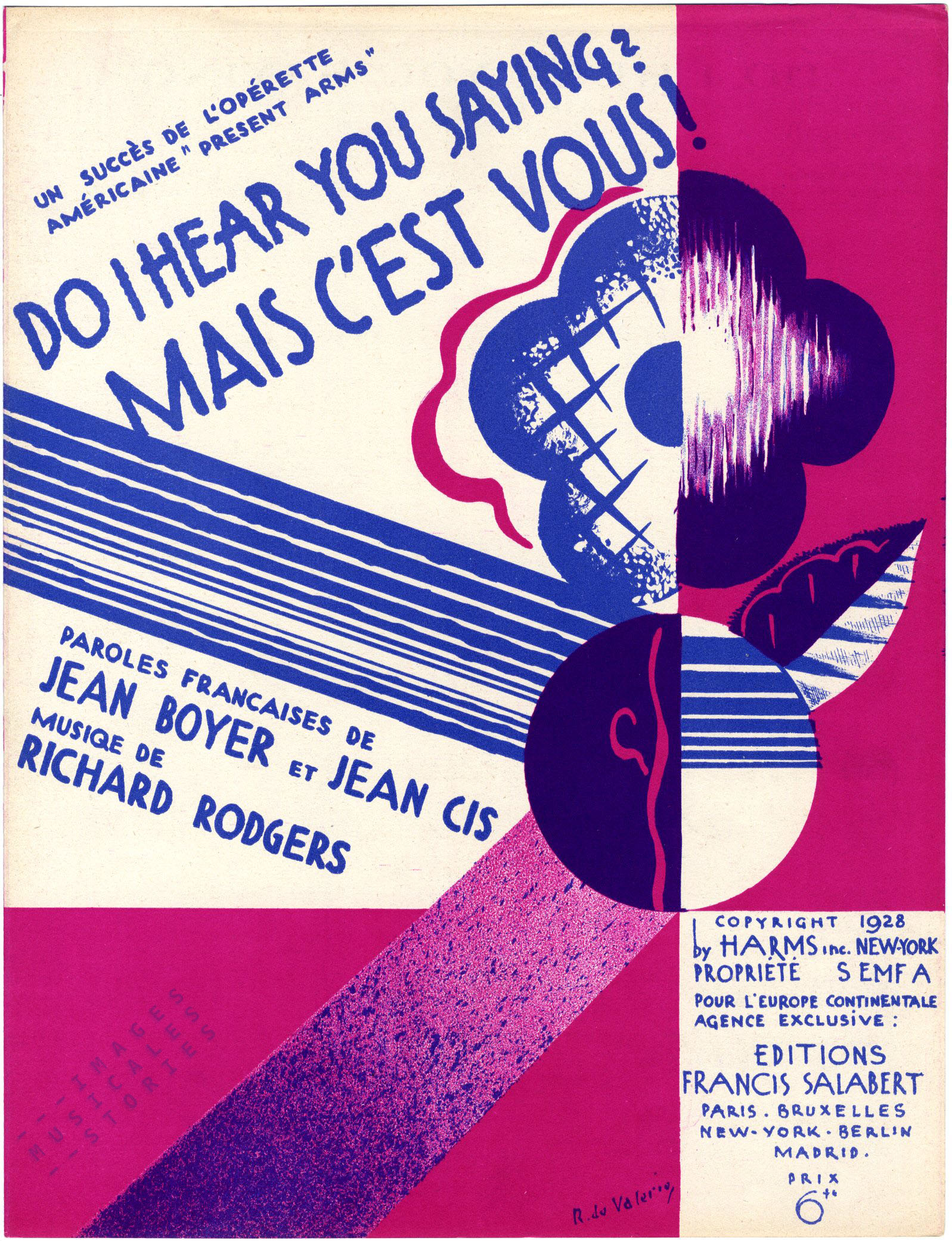 'Do I hear you saying?'. A cover design by Roger de Valerio (1928)