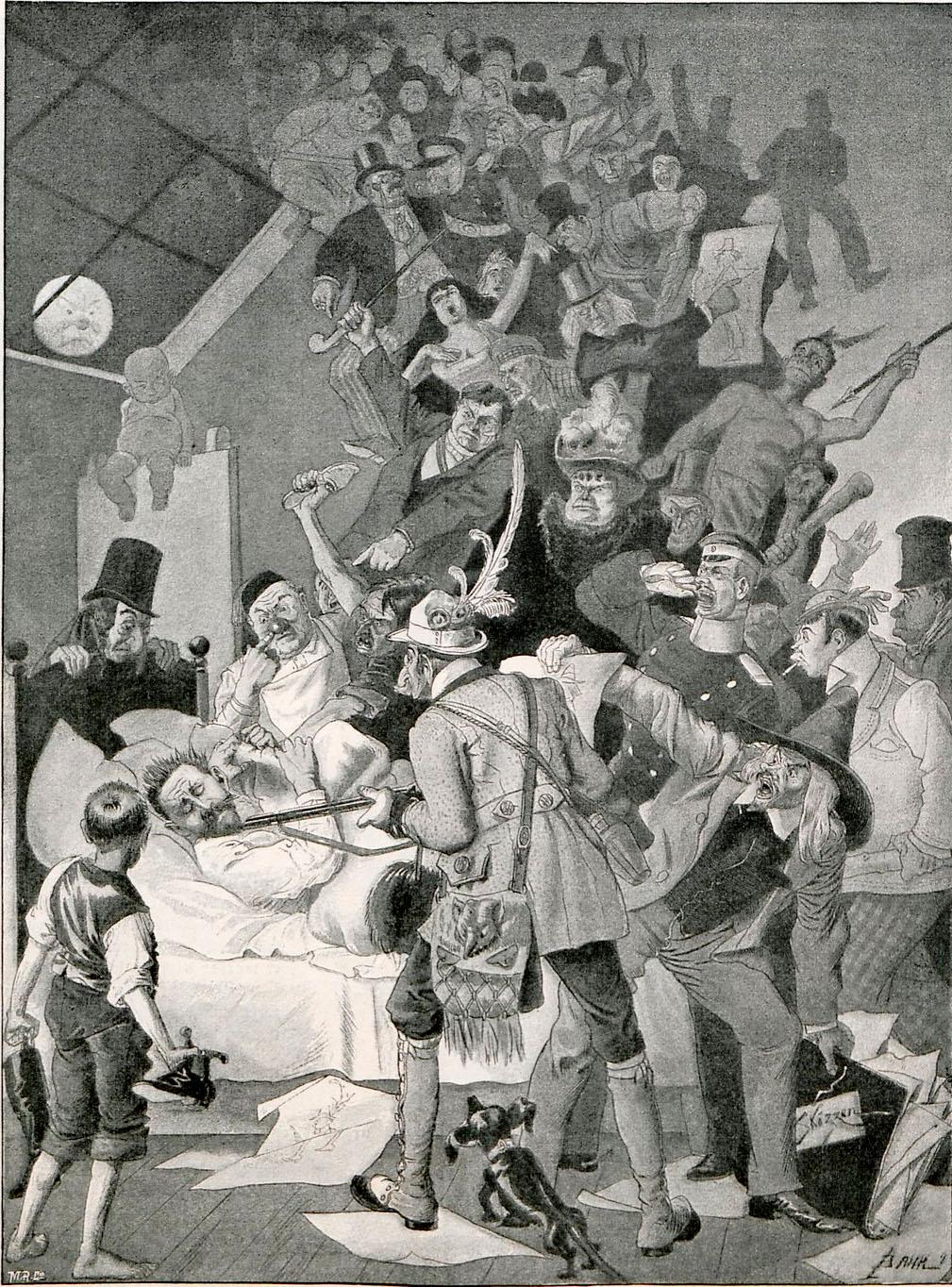 traum-eines-caricaturen-zeichners, Johann Bahr