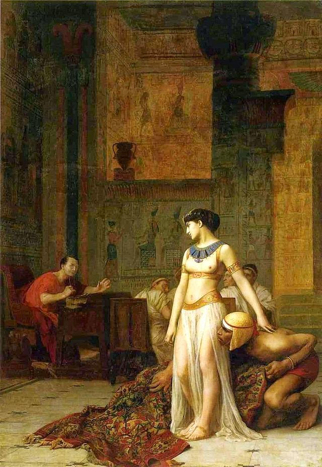 'Cleopatra before Caesar' by Jean-Léon Gérôme, 1866.