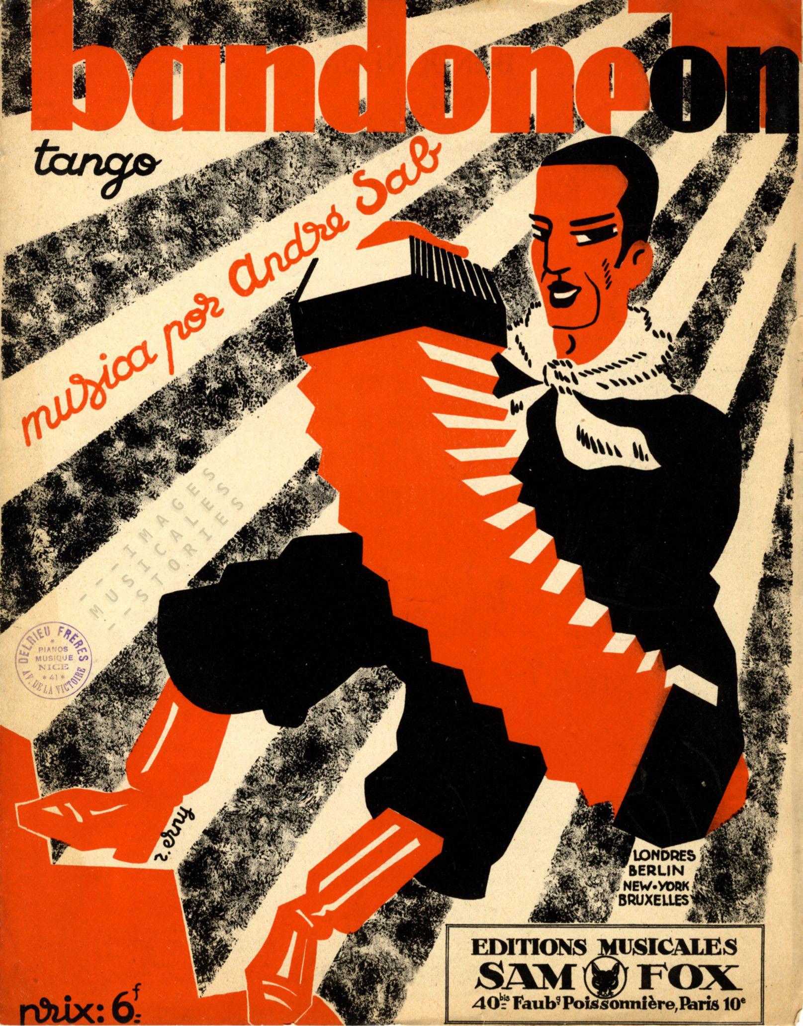 'Bandoneon' (partition illustrée par Raymond Erny, 1927)
