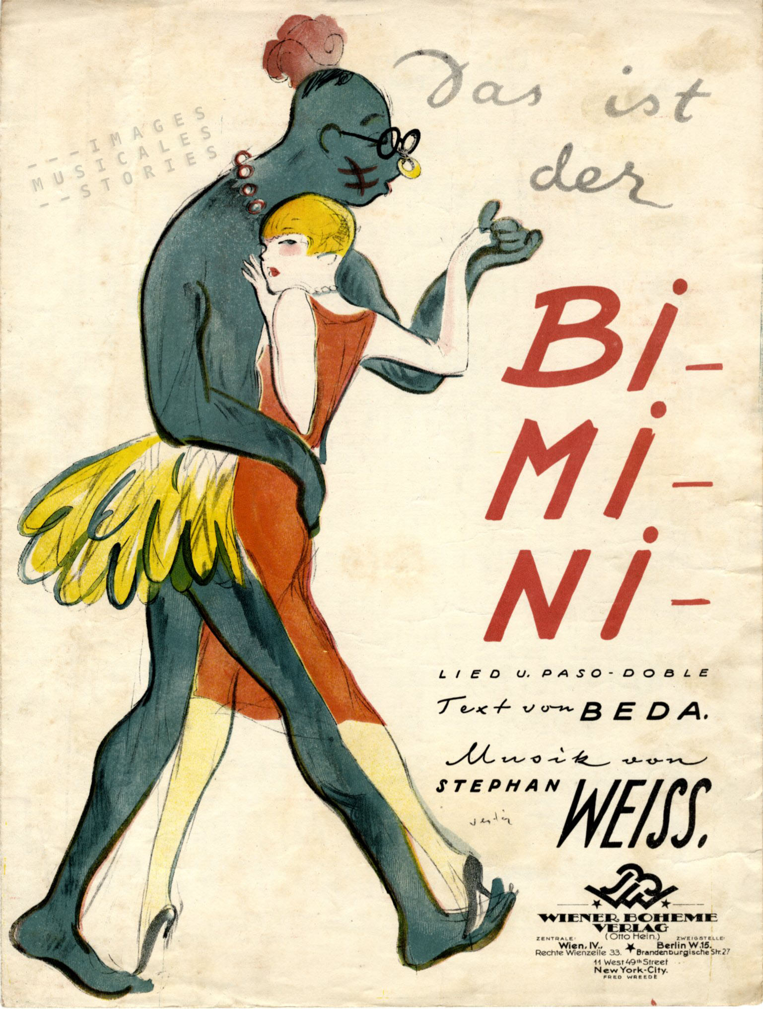 'Das ist der Bimini...' sheet music cover by Dely