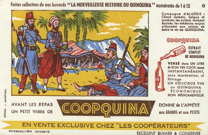 Image of a French publicity for Coopquina to increase the appetite
