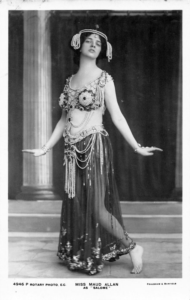 Postcard of Maud Allan as Salome.