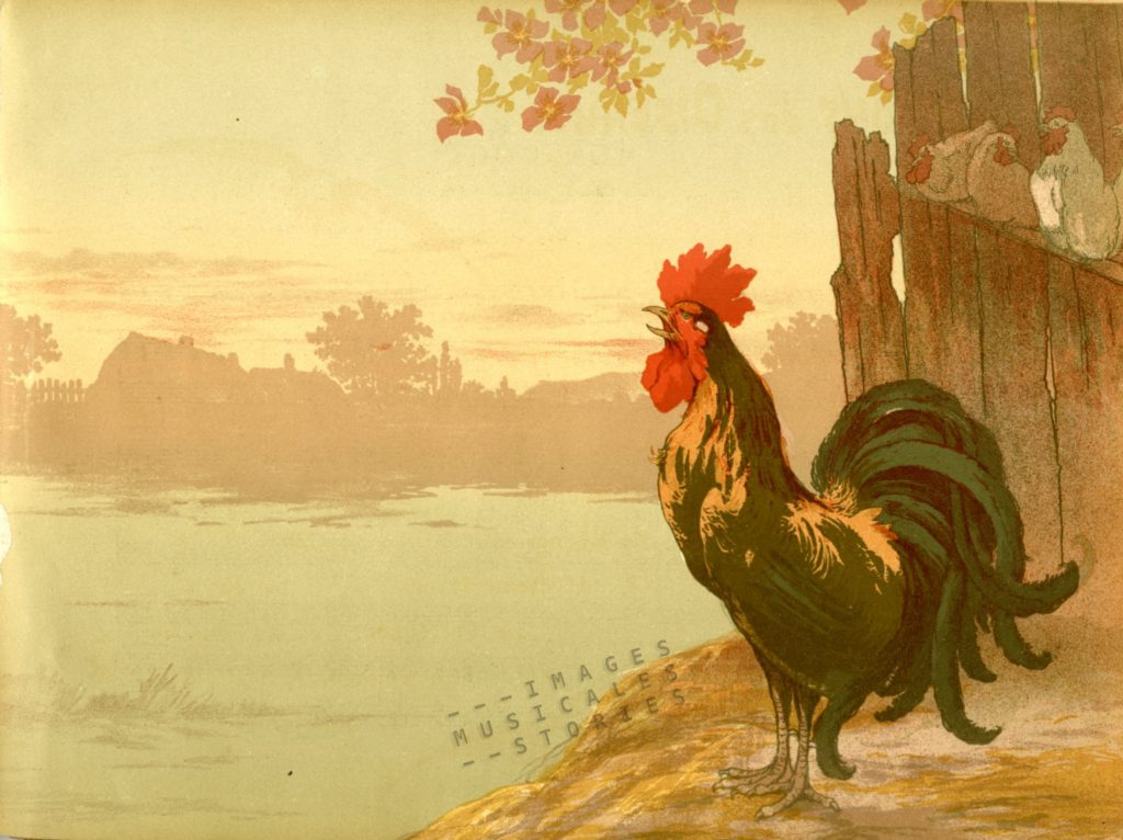 'Mon Coq - Chanson rustique' illustrated by Georges Fraipont