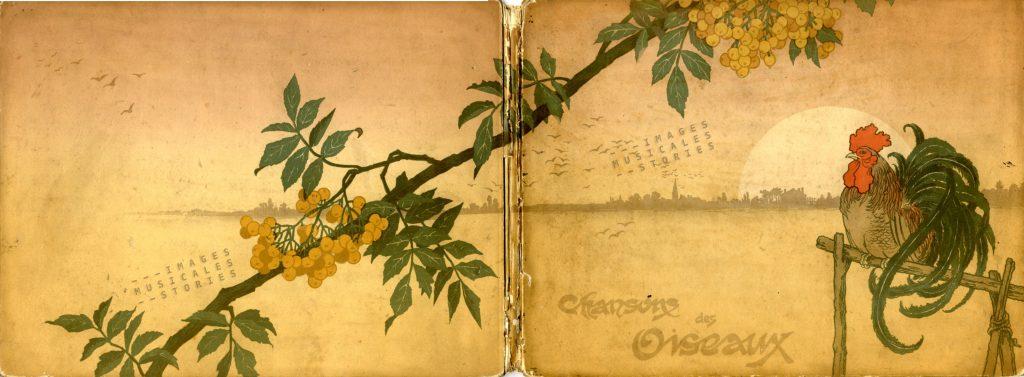 illustration by Georges Fraipont for 'Chansons des Oiseaux'