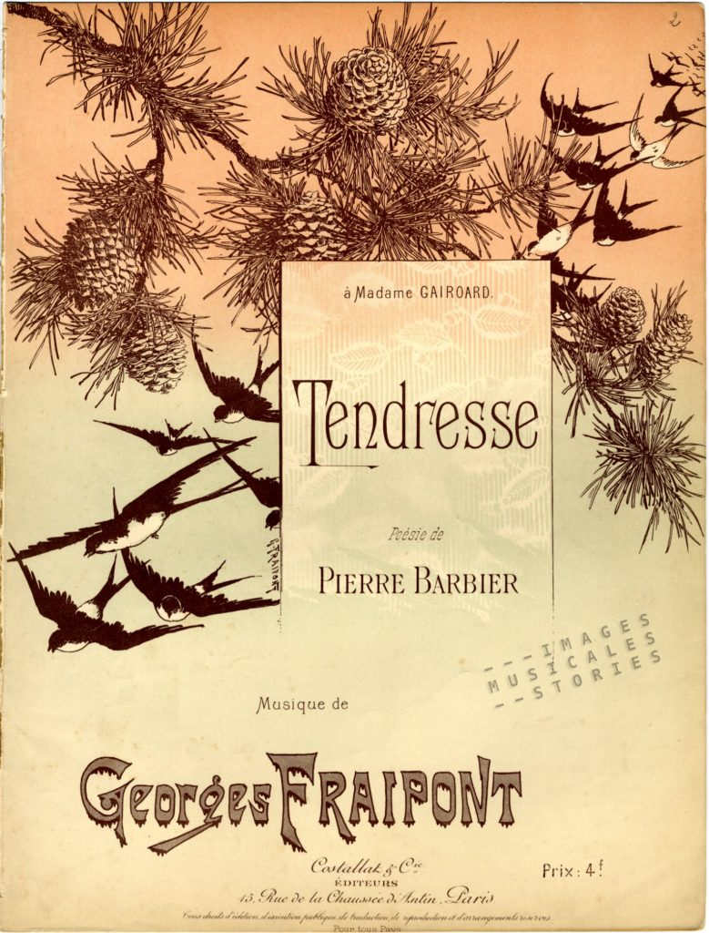 Tendresse sheet music by Georges Fraipont