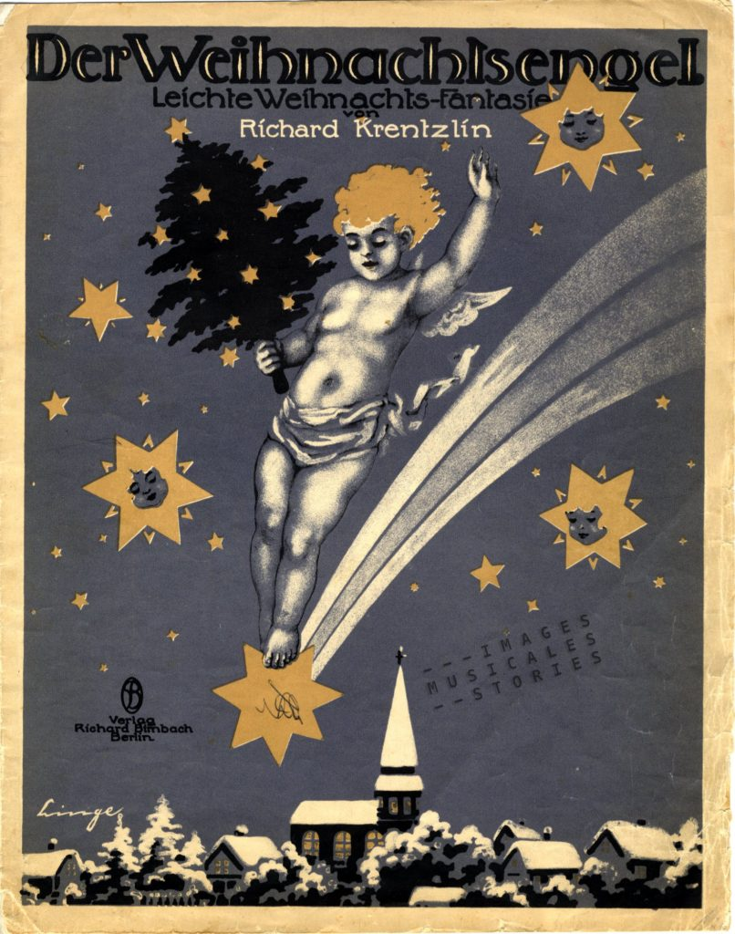 Sheet music 'Der Weihnachtsengel' illustrated by Linge.