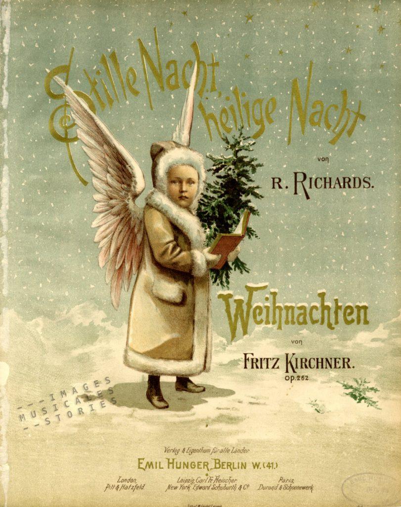 Sheet Music cover 'Stille Nacht, heilige Nacht ; Weihnachten' by Fritz Kirchner