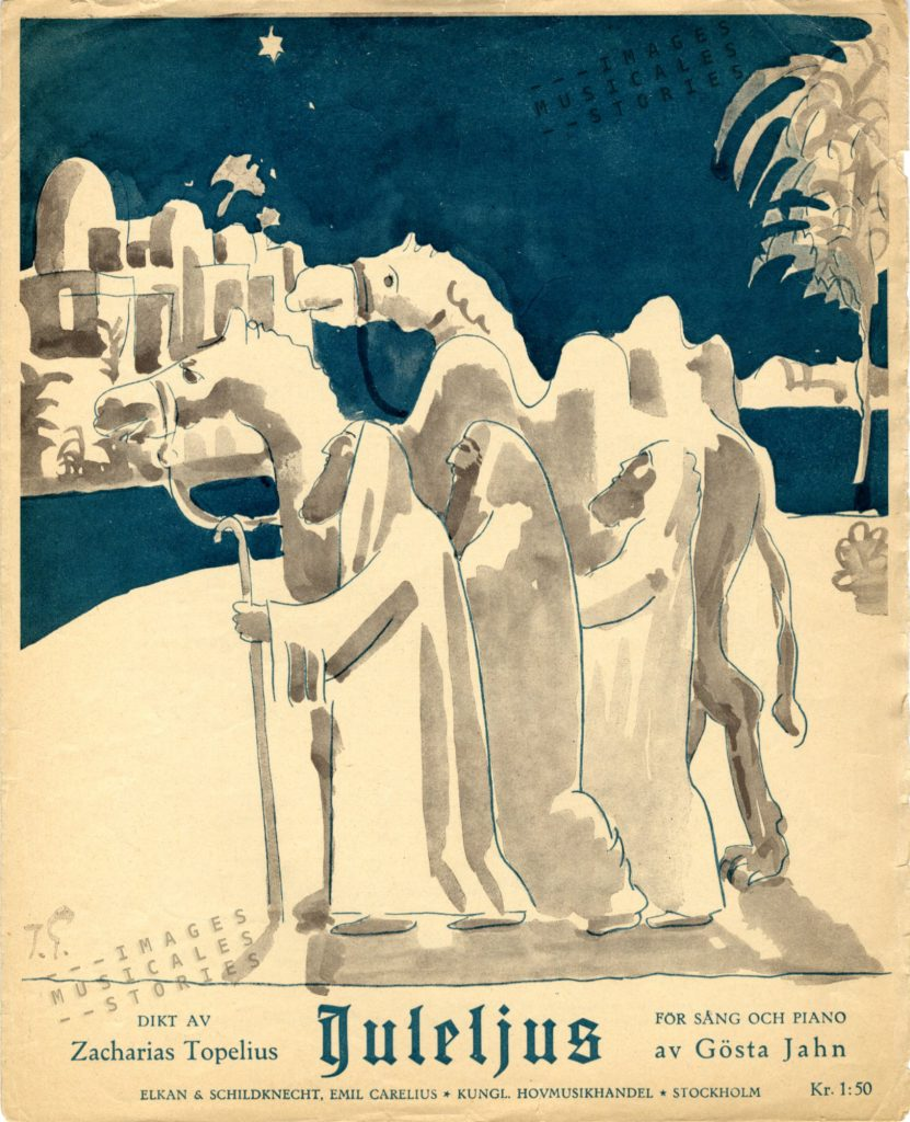 Illustration of a 1926 sheet music cover attributed to Isaac Grünewald.