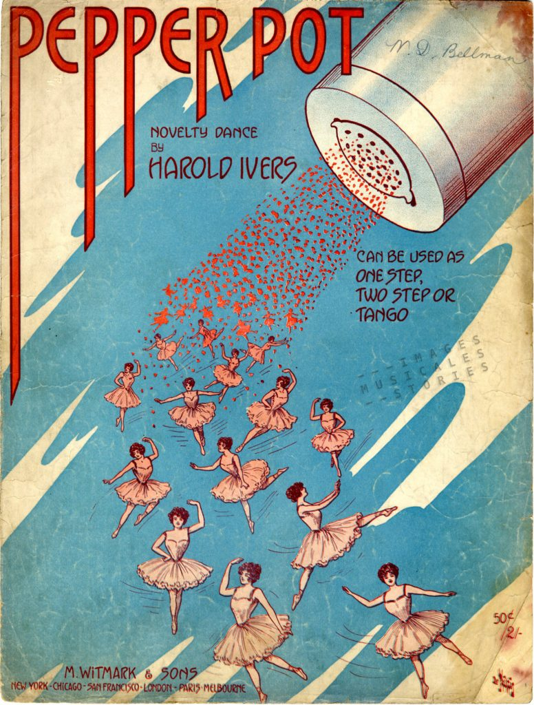 'Pepper Pot' sheet music cover illustration,
