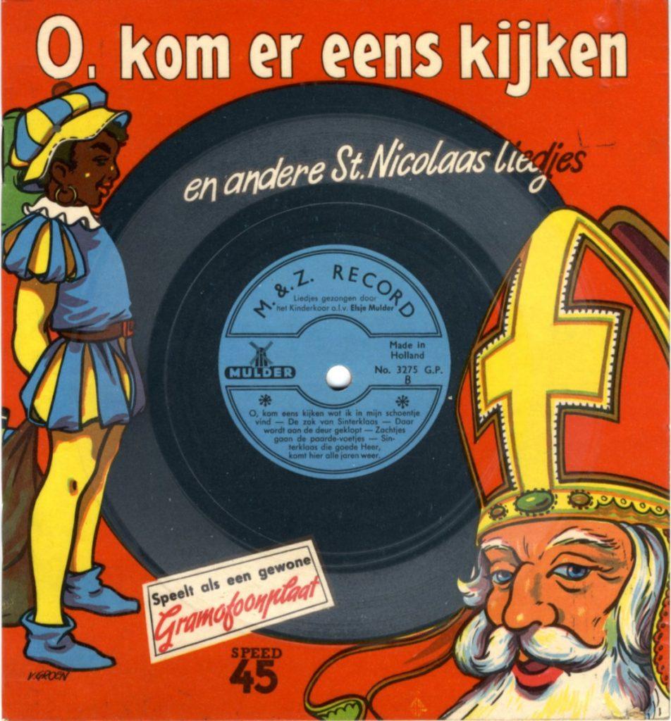 Cover for booklet 'O, kom er eens kijken, en andere St.Nicolaas liedjes'