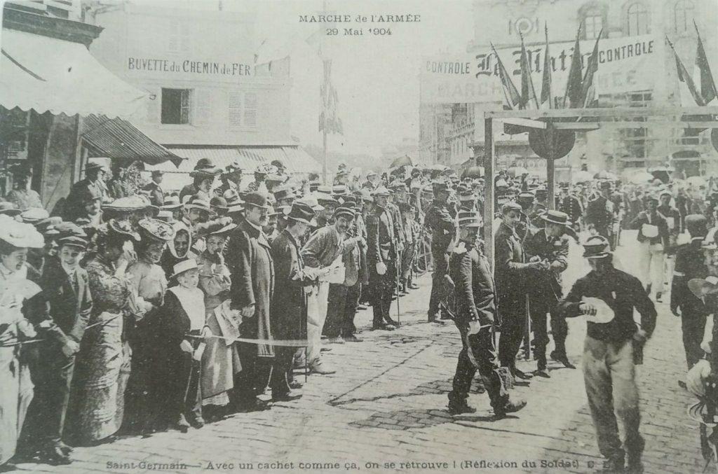 Postcard (1904) showing the Marche de l'Armée