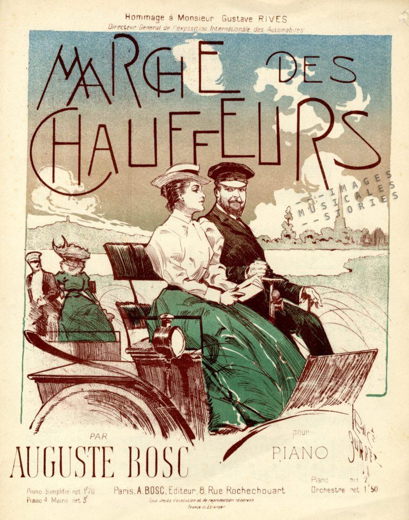 Sheet music cover for Marche des Chauffeurs