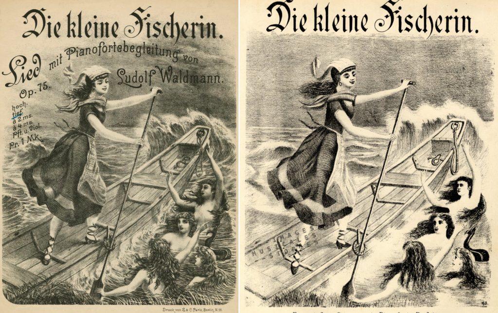 sheet music cover for 'Die kleine Fischerin' by Ludolf Waldmann
