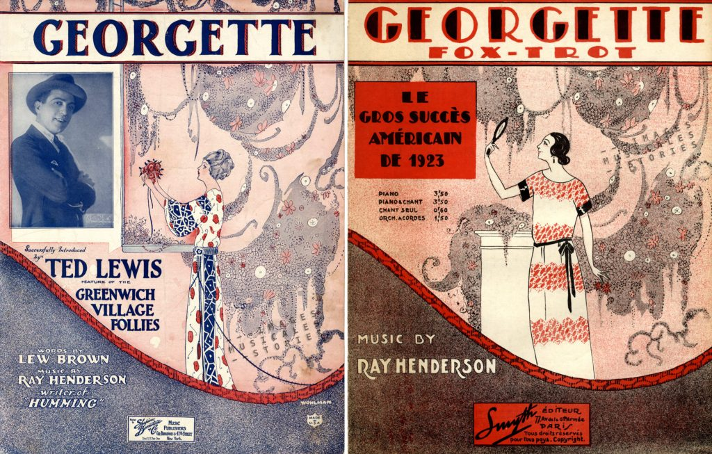 Illustrated sheet music. Cover by Wohlman and Robert Laroche.