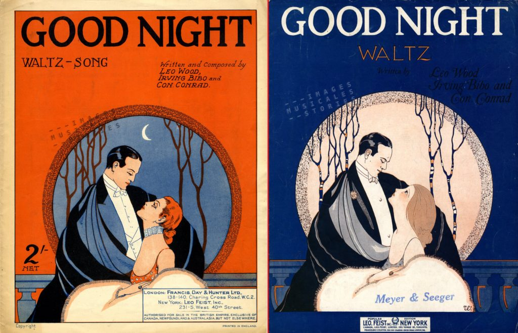 Sheet music cover for 'Good Night'