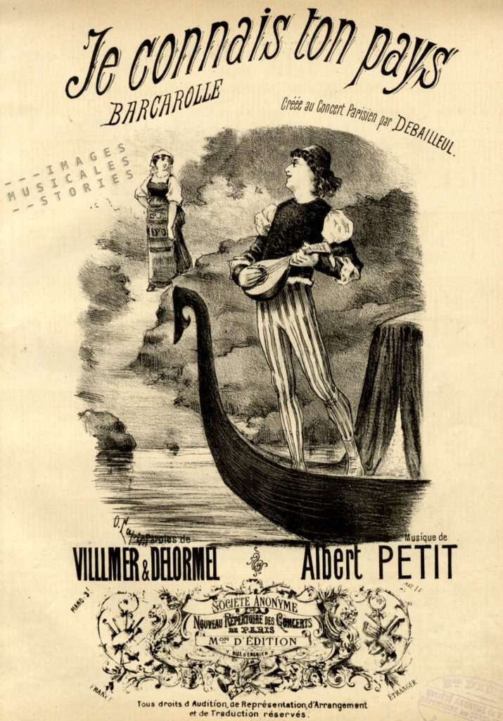 Illustrated cover of the sheet music 'Je connais ton pays'